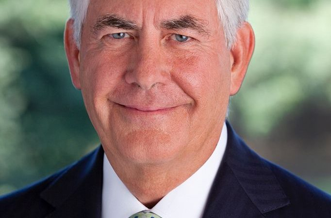 The Latest: Trump swears in Tillerson to lead State Dept.