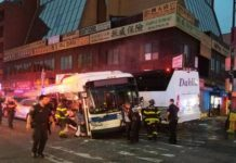 New York City bus collision