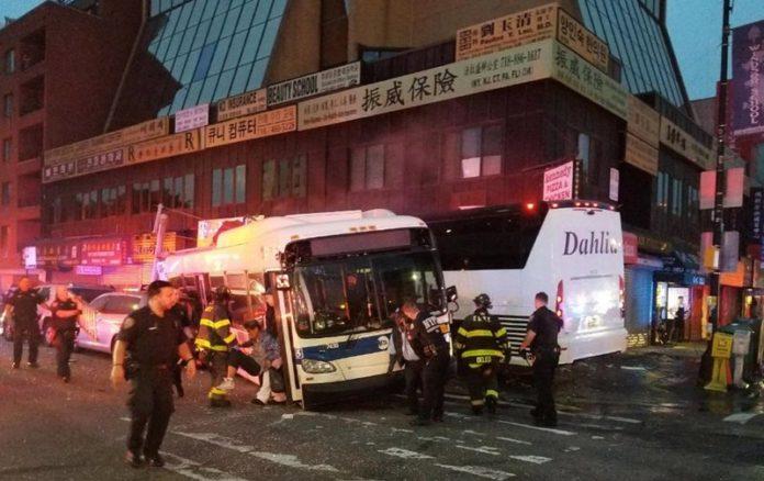 New York City bus collision