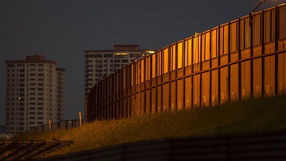 Border wall, U.S.-Mexico border.