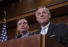 Richard Burr and Mark Warner, in charge of the Senate Russia probe