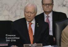 Sen. Orrin Hatch Chairman Senate Finance Committee