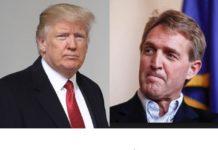 Trump blasts Flake