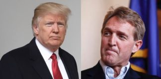 Trump blasts Flake
