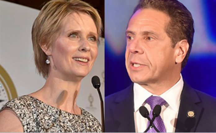 Actress Cynthia Nixon-- New York Gov. Cuomo