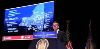 New York Gov. Cuomo talks about offshore drilling, renewable energy