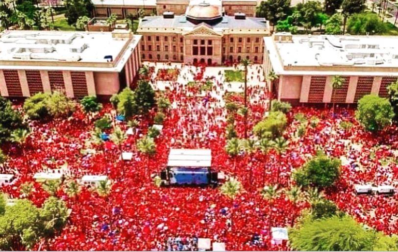 Arizona Teachers RedforED movement Third Day Strike