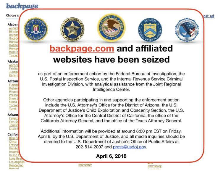 FBI seizes Backpage.com