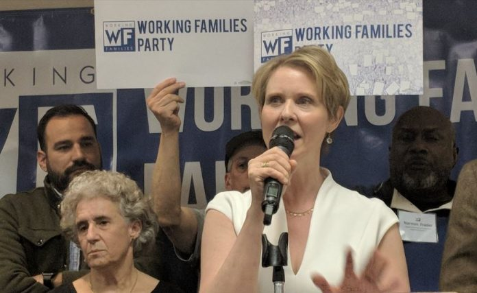 Cynthia Nixon Gets Working Families Party Endorsement