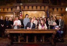 Gov. Tom Wolf signs SB 449 Tierne's -Law