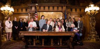 Gov. Tom Wolf signs SB 449 Tierne's -Law