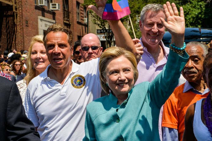 Gov. Cuomo and Hillary Clinton photo