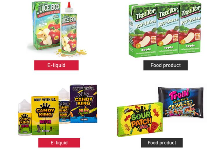 Misbranded E-liquids for e-cigarettes