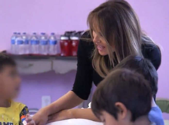 Melania Trump spend time with children at immigration facility in Arizona
