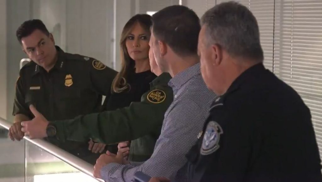 Melania Trump visits immigration facility in Arizona