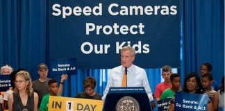 NYC speed camera program--Mayor Bill de Blasio