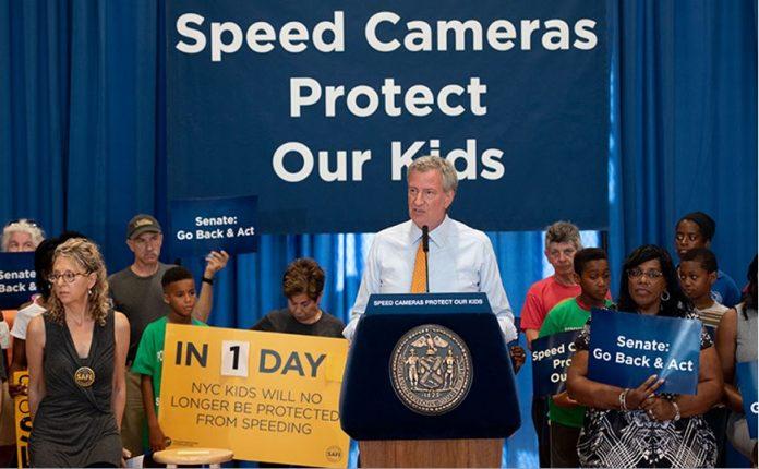 NYC speed camera program--Mayor Bill de Blasio
