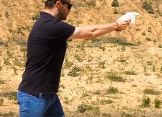 Defense Distributor Founder Cody Wilson firing 3D printed gun