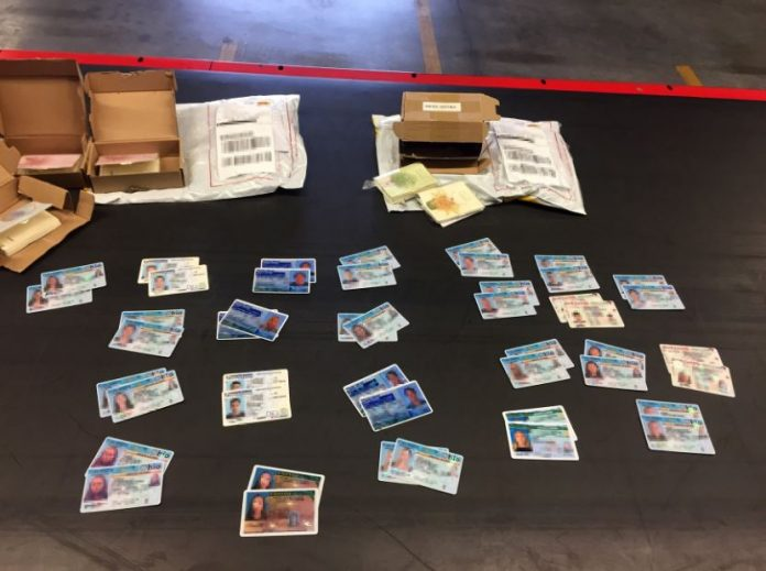 CBP Officers Philadelphia seize 500 fake driver's licenses