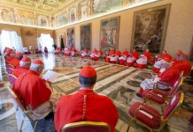 Vatican-Pope Francis and Cardinals