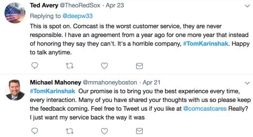 Is Tom Karinshak Making Comcast Customer Service Worse