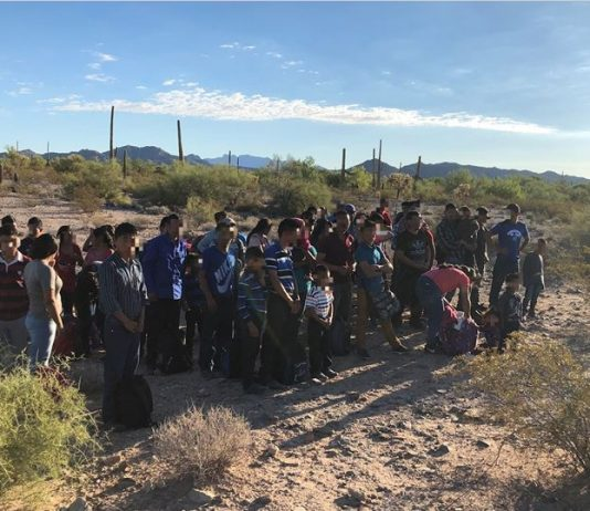 Arizona Border Patrol Agents Continue to Arrest Large Groups of Immigrants