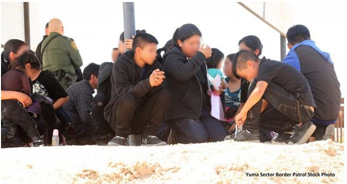 Yuma Sector Border Patrol agents arrested 188 immigrants