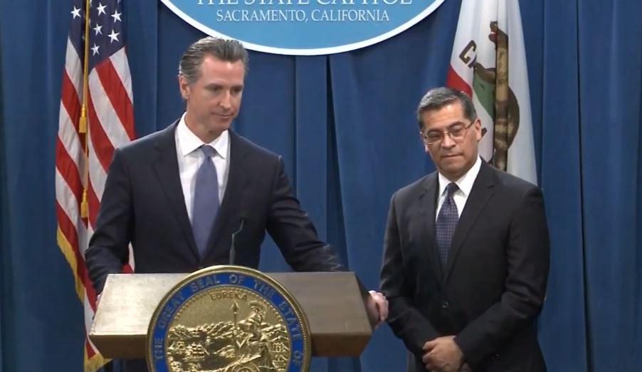 California Gov. Newsom-AG Becerra