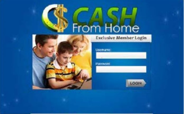 Work-From-Home--Cash From Home Scam