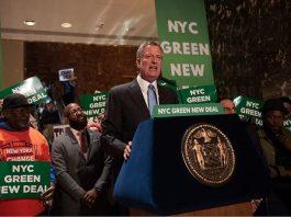 New York City Mayor Bill de Blasio-NYC Green New Deal