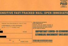 Deceptive covid-19 stimulus mailer