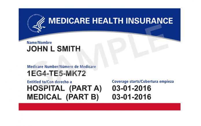Medicare Card sample