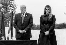 Pres. Donald Trump and First Lady Melania Trump Praying