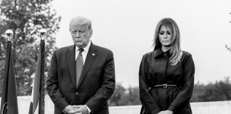Pres. Donald Trump and First Lady Melania Trump Praying