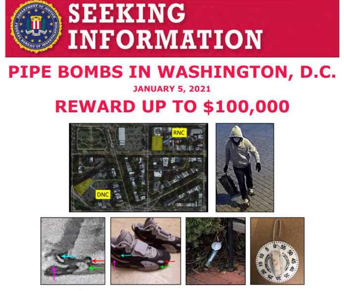 FBI Pipe Bombs Wanted Poster