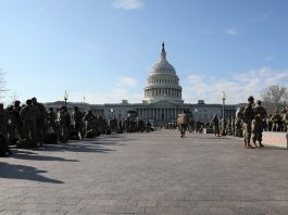 National Guard members deployed to secure Biden inauguration