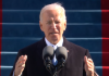 Pres. Joe Biden delivering his inaugural speech