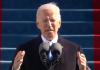 Pres. Joe Biden delivering his inaugural speech