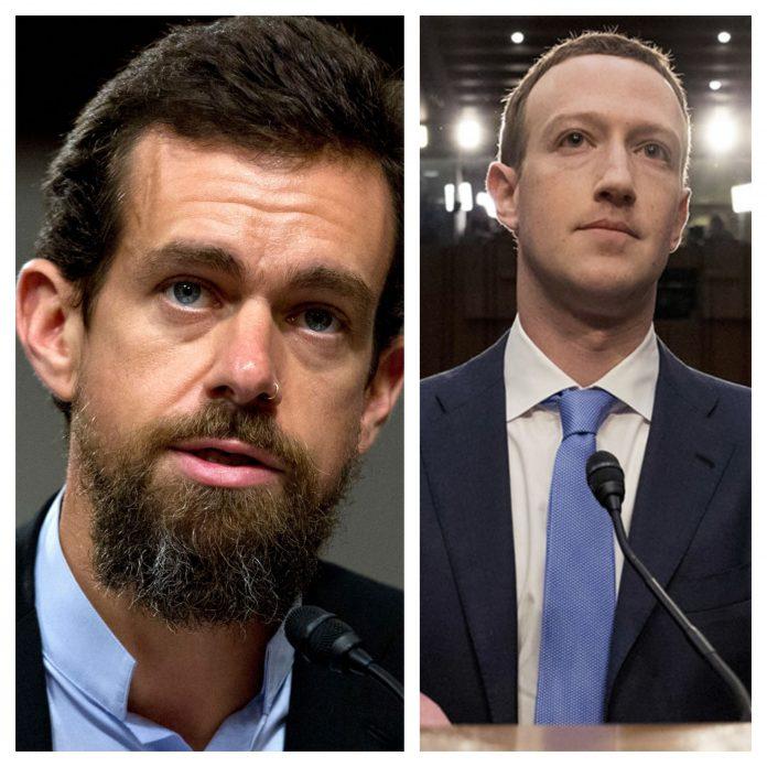 Jack Dorsey and Mark Zuckerberg