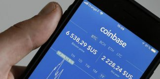 Coinbase App User Interface