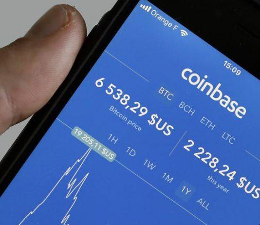 Coinbase User Interface